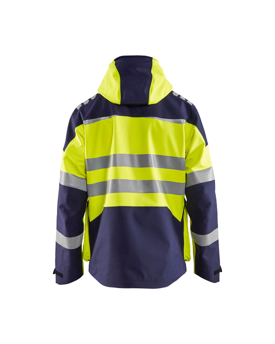 BLÅKLÄDER Hivis 3L shell jacket Yellow/navy blue