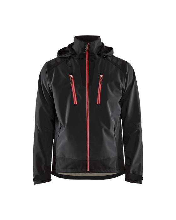 BLÅKLÄDER Softshell Jacket Black/Red