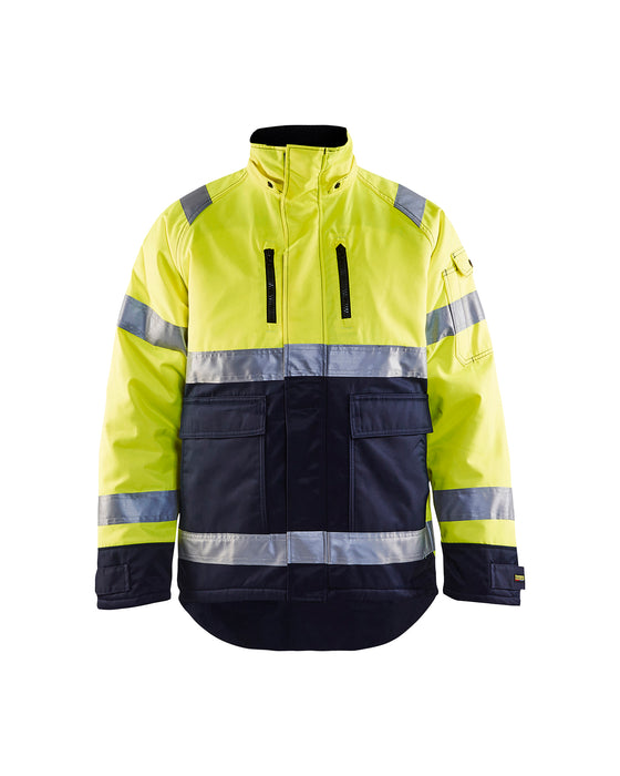 BLÅKLÄDER High Vis Winter Jacket Yellow/navy blue
