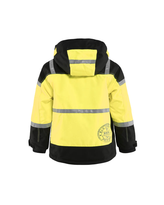 BLÅKLÄDER Childrens Winter Jacket Black/Yellow