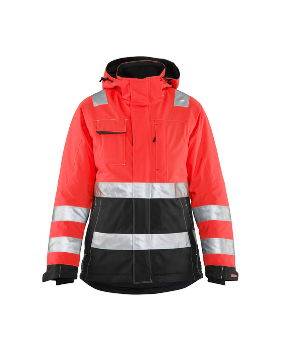 BLÅKLÄDER Hi-Vis winter jacket women Red/black