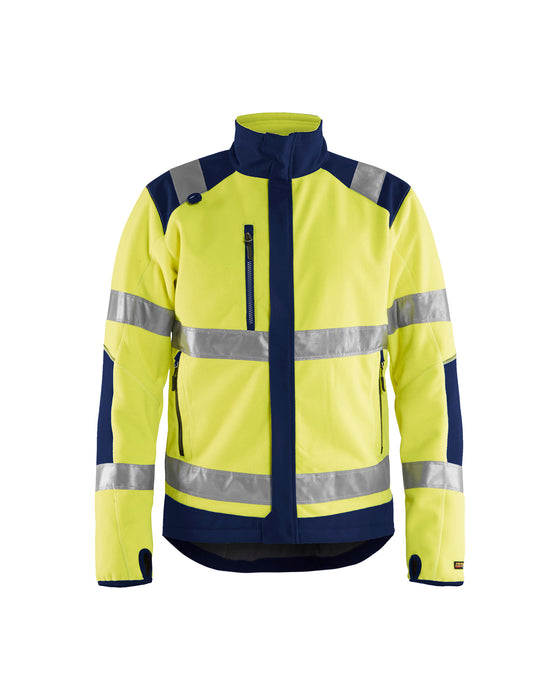 BLÅKLÄDER Hi-vis functional fleece Yellow/navy blue