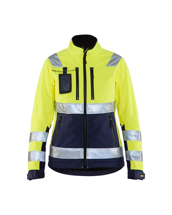 BLÅKLÄDER Softshelljacket Women Yellow/navy blue
