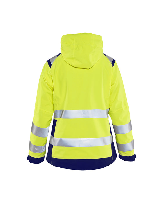 BLÅKLÄDER Hi-vis shell jacket women Yellow/navy blue
