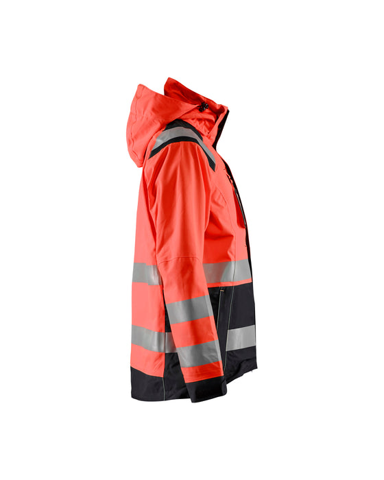 BLÅKLÄDER Hi-vis shell jacket women Red/black