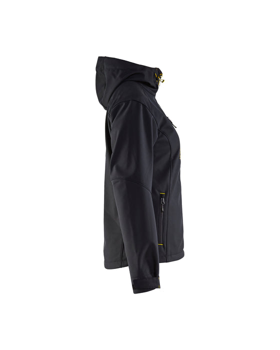 BLÅKLÄDER Softshell jacket women Black/Yellow