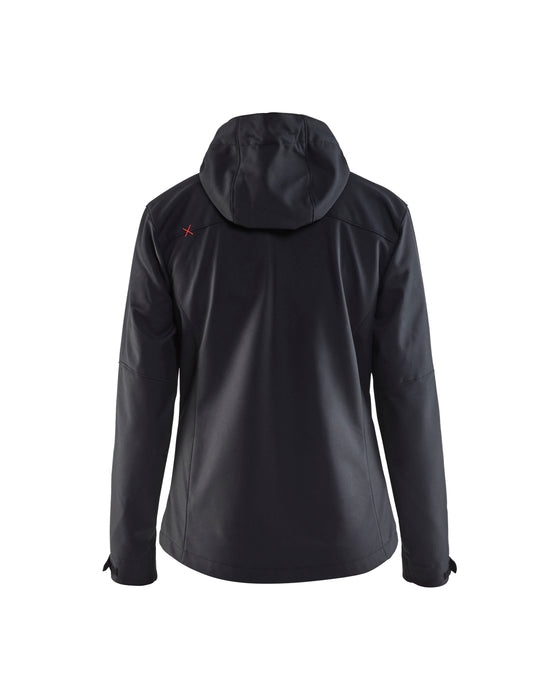 BLÅKLÄDER Softshell jacket women Black/Red