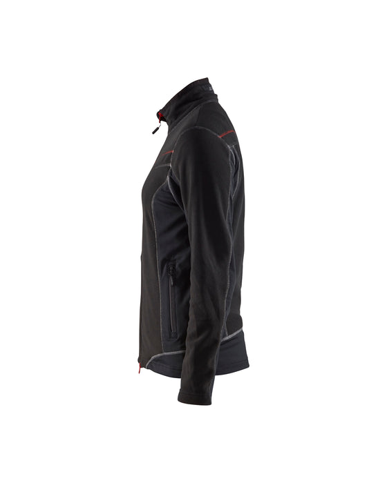 BLÅKLÄDER Microfleecejacket women Black/Red