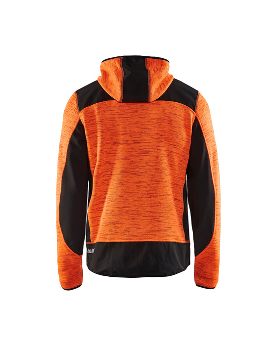 BLÅKLÄDER Knitted jacket Orange/Black