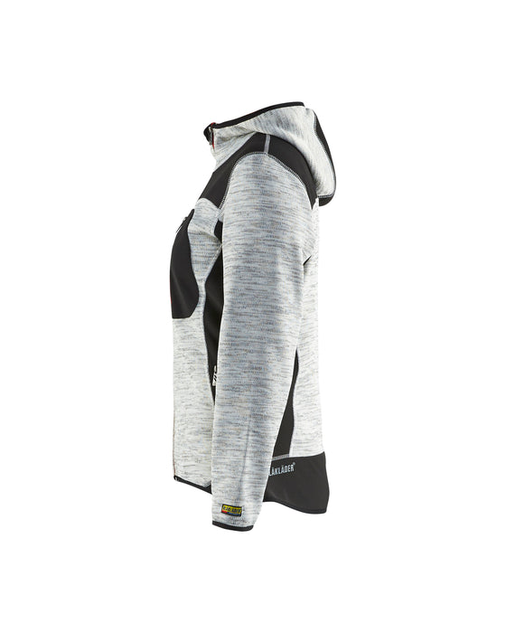 BLÅKLÄDER Knitted jacket women Grey melange/Black