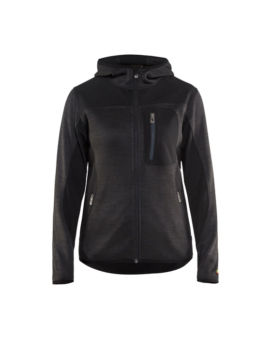 BLÅKLÄDER Knitted jacket women Dark grey/Black