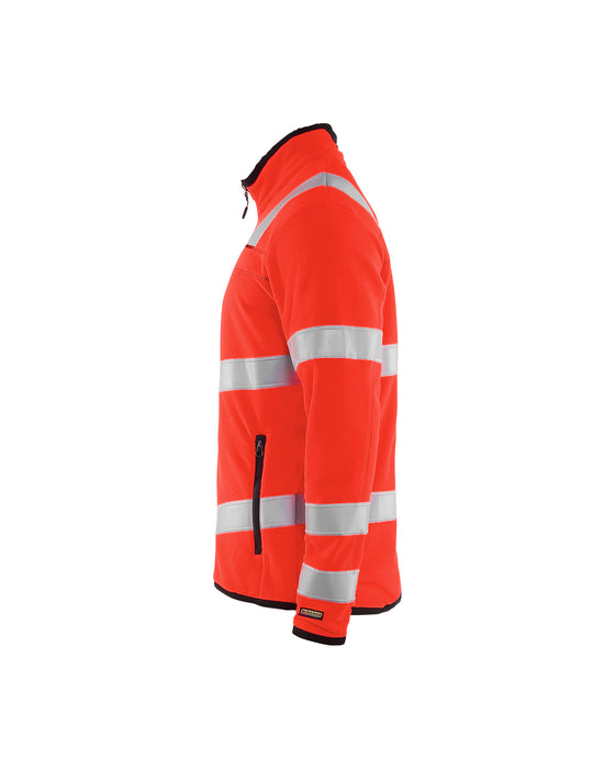 BLÅKLÄDER Hivis microfleece jacket Red highviz