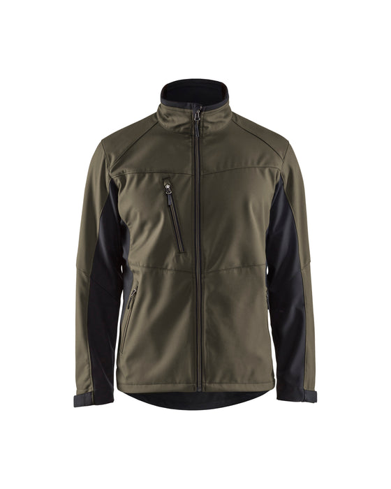 BLÅKLÄDER Softshell  Jacket Dark olive green /black