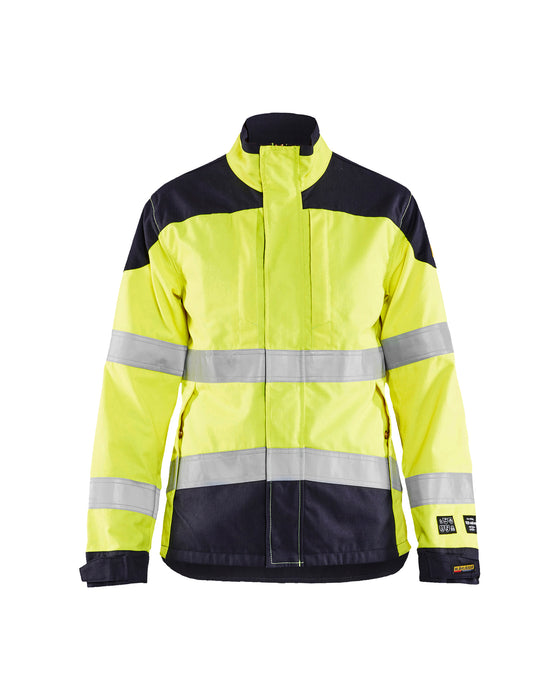 BLÅKLÄDER Inherent Multinorm jacket, Women Yellow/navy blue