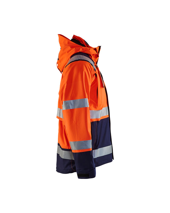 BLÅKLÄDER Hi-vis shell jacket Orange/Navy blue