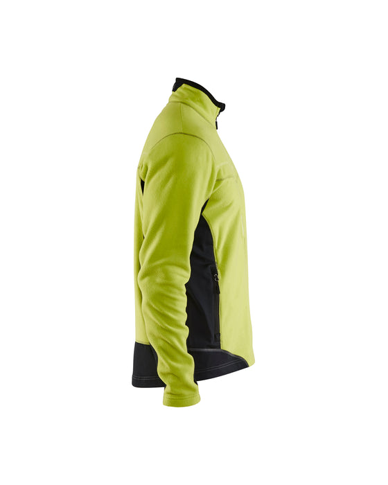 BLÅKLÄDER Micro fleece jacket Lime/Back