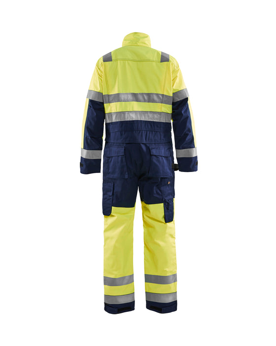 BLÅKLÄDER High-visibility overall Yellow/navy blue