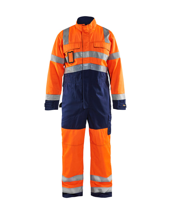 BLÅKLÄDER High-visibility overall Orange/Navy blue