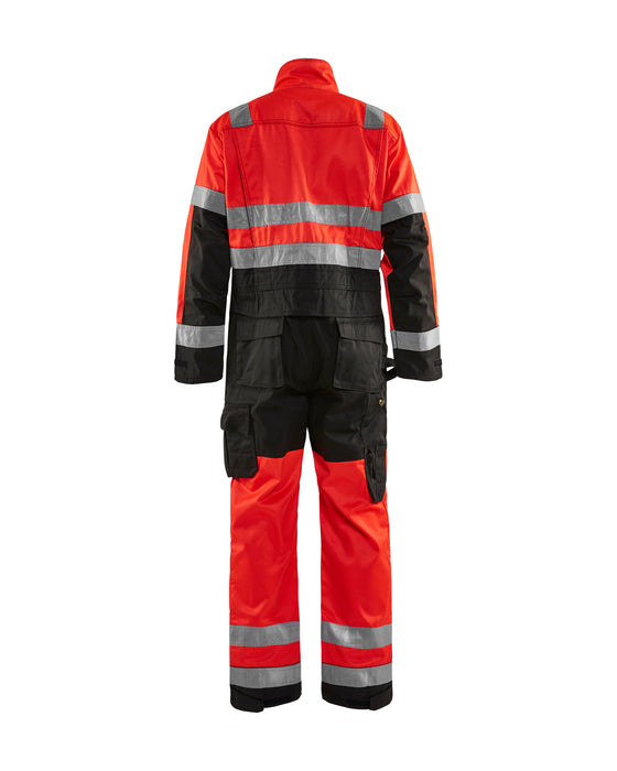 BLÅKLÄDER High-visibility overall Red/black