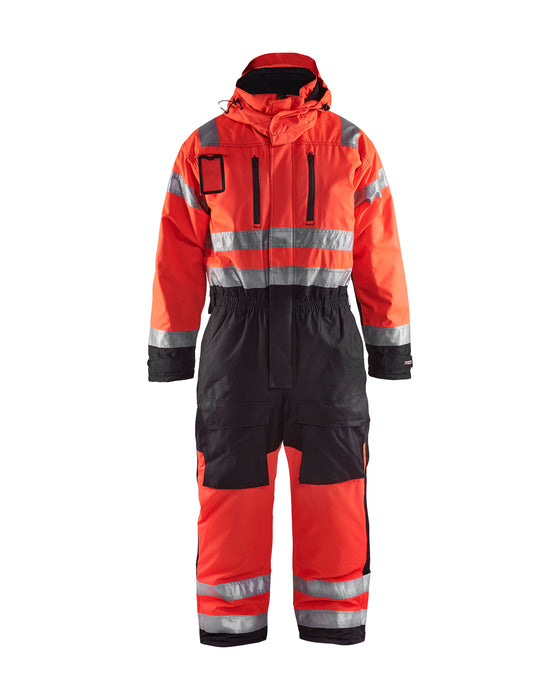 BLÅKLÄDER Winter overall, High visibility Red/black