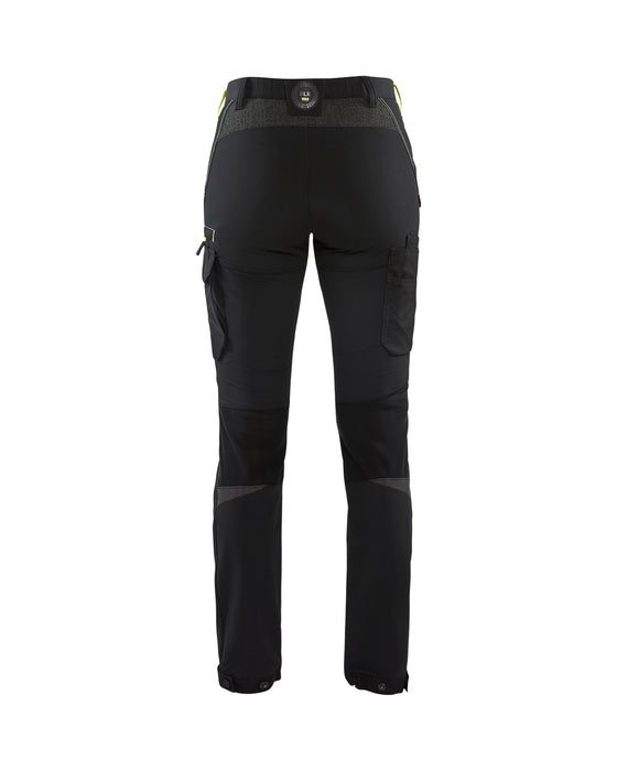 BLÅKLÄDER Service trouser Women stretch Black/Yellow