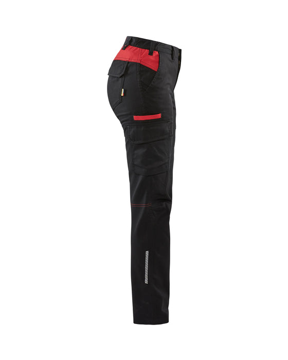 BLÅKLÄDER Industry Trouser  Women  Black/Red