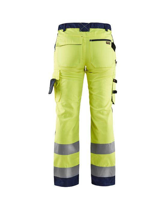 BLÅKLÄDER Hi-vis Women's Trousers  Yellow/navy blue