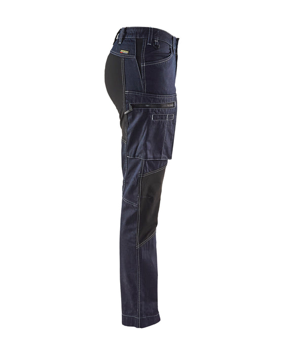 BLÅKLÄDER Service trousers woman with stretch panels  Navy blue/Black