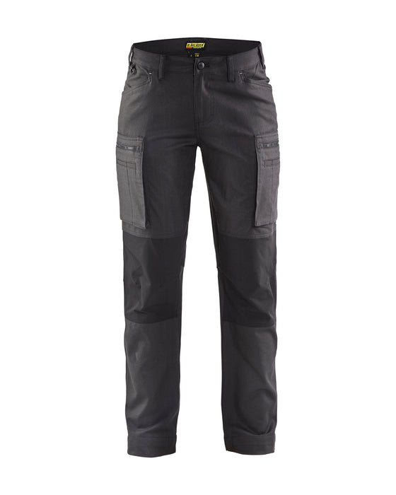 BLÅKLÄDER Service trousers woman with stretch panels  Darkgrey/black