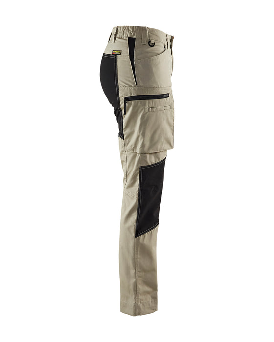 BLÅKLÄDER Service trousers woman with stretch panels  Stone/Black