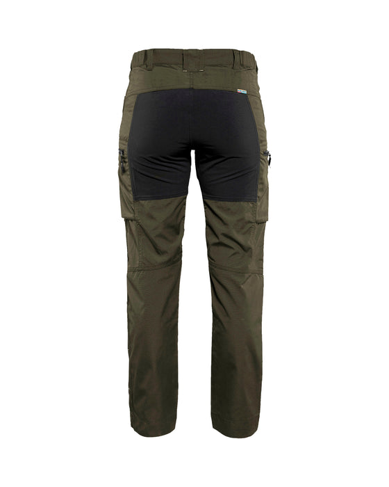 BLÅKLÄDER Service trousers woman with stretch panels  Dark olive green /black