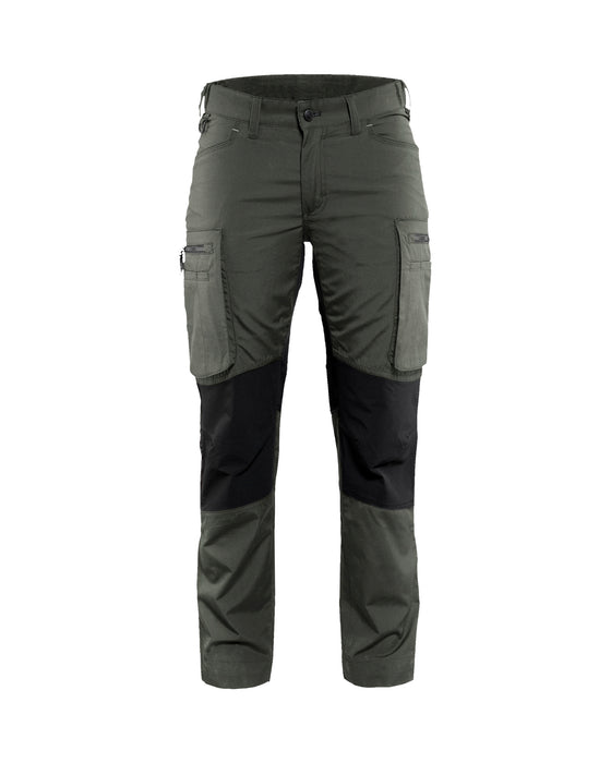 BLÅKLÄDER Service trousers woman with stretch panels  Army green/Black