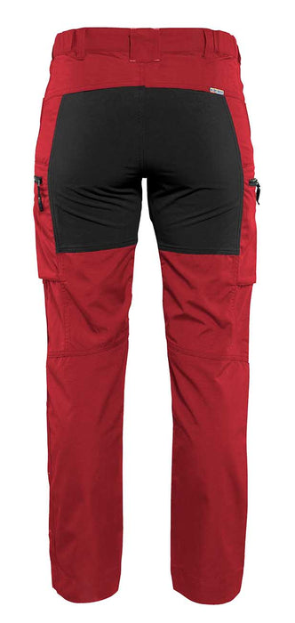 BLÅKLÄDER Service trousers woman with stretch panels  Red/Black