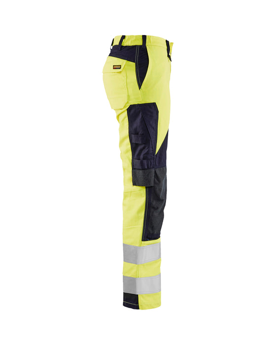 BLÅKLÄDER Inherent Multinorm trouser class 2, Women Yellow/navy blue
