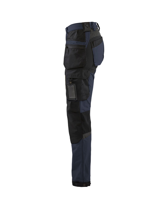 BLÅKLÄDER Craftsman Trouser Women Stretch  Dark navy/black