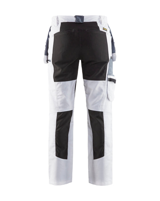 BLÅKLÄDER Painters trousers Stretch  Women White/Black