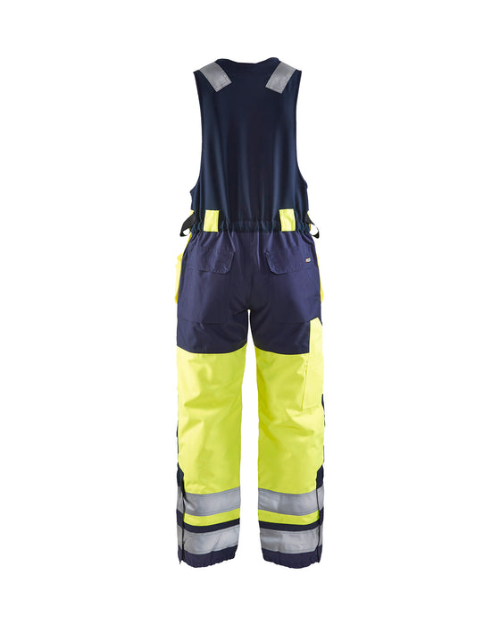 BLÅKLÄDER Winter Sleeveless overalls, High vis Yellow/navy blue