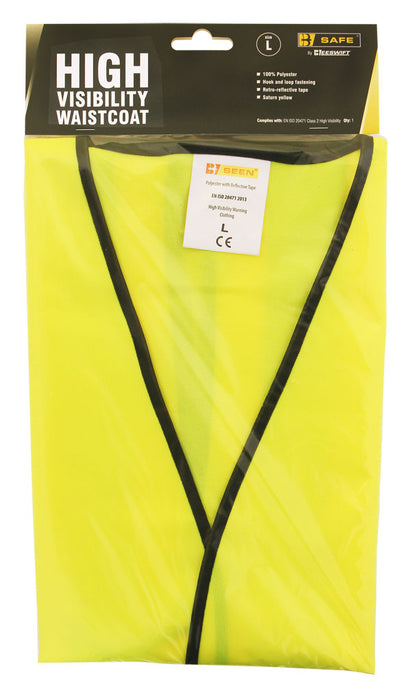HI VISIBILITY VEST S/YELL L  1 Pack