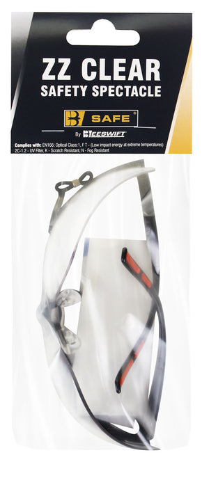 ZZ CLEAR SAFETY SPECTACLE  1 Pack