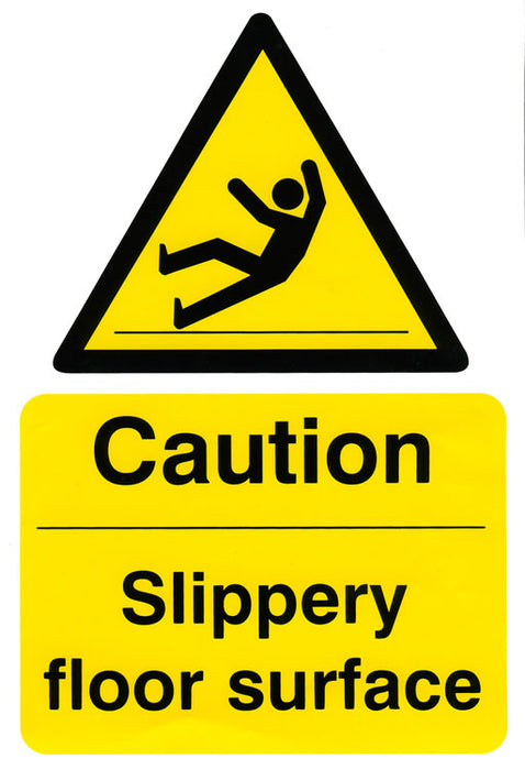 Caution Slippery Floor Surface 200Mm X 300Mm (Pack 5) 1 Pack