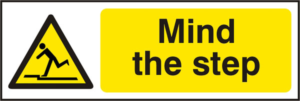 Mind The Step  Sav (Pk5) 300Mm X 100Mm 1 Pack