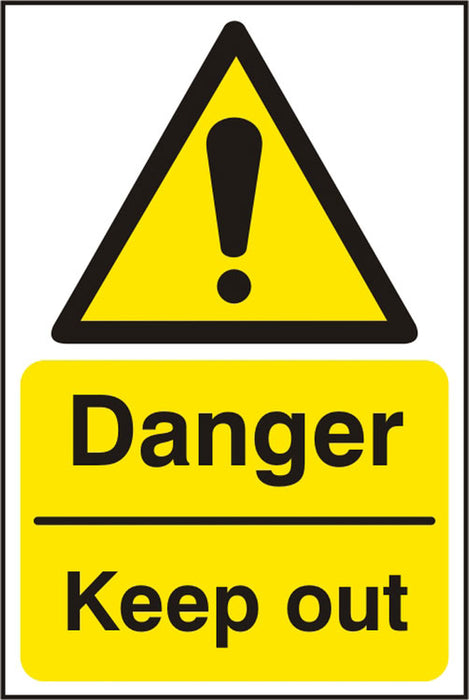 Danger Keep Out  Sav (Pk5) 200Mm X 300Mm 1 Pack