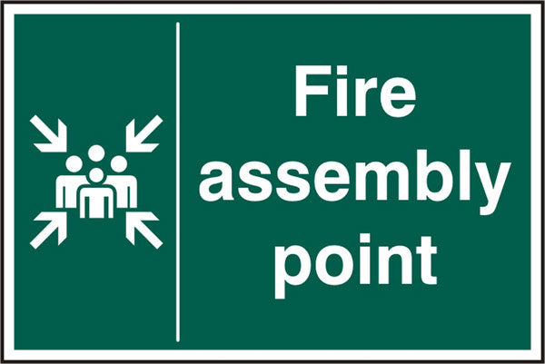Fire Assembly Point Rpvc (Pk5) 200Mm X 300Mm 1 Pack