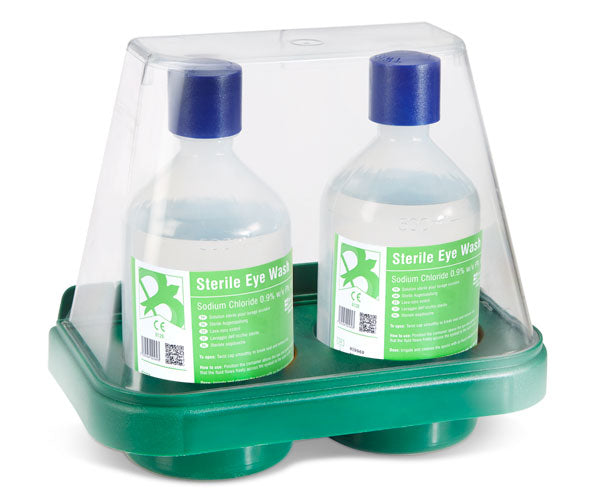 Click Medical Double Eyewash Stand With 2 X 500Ml 1 Pack