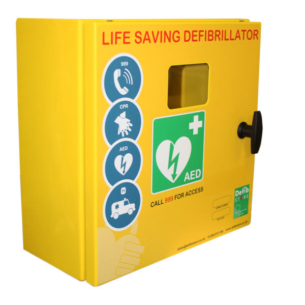 DEFIBRILLATOR MILD STEEL CABINET NO LOCK & ELECTRICS 1 Pack