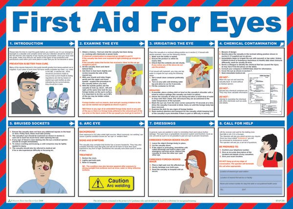 Click Medical First Aid For Eyes Poster A602 1 Pack