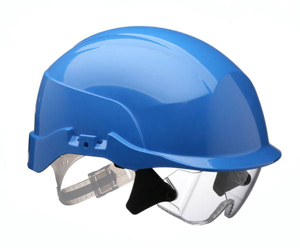 Spectrum Blue Helmet C/W Eye Shield (S20Br) 1 Pack