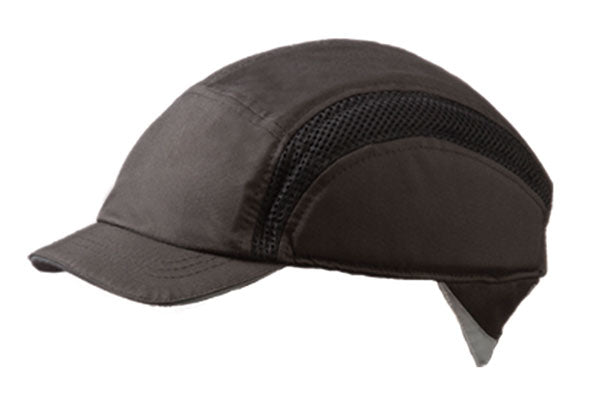 Airpro Baseball Bump Cap Reduced Peak Black 1 Pack - Spontex Workwear