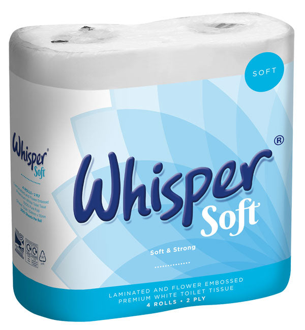 WHISPER LUXURY T/ROLL 2PLY (40) 1 Pack