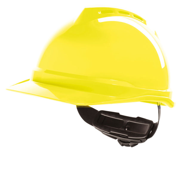 V-Gard 500 Vented Safety Helmet Hi Vis Yellow 1 Pack